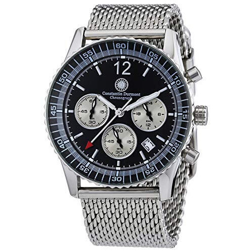 Constantin Durmont CD-AIRC-QZ-STM2-STST-BK Men's Watch