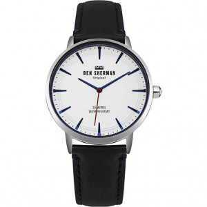 Ben Sherman Mens Analogue Classic Quartz Watch with Leather Strap WB020B - Men's watch