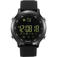 KXCD smart watch, Activity Tracker Watch for iPhone Android Smartphone (Silicone black) - Smart watch