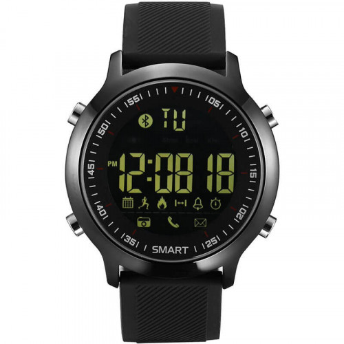 KXCD smart watch, Activity Tracker Watch for iPhone Android Smartphone (Silicone black) - Смарт часовник