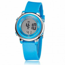 Kids Digital Sport Watch for Boys Girls, Kid Electrical Outdoor Waterproof Watches with Stopwatch Alarm 7 Color LED Luminescent for Youth Childrens - Blue - Kid's watch